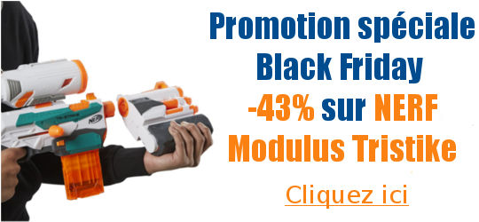 Black friday 43 pourcent de remises sur Nerf modulus tristrike